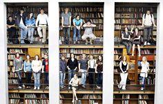 2008. Årets bokdebutanter samlet i galleriet, hovedsalen på Deichmanske.