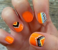Neon tribal nails loveee loveeee loveeeeeeeee