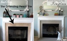 Image result for painted fire surrounds