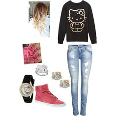 """Can Never Go Wrong With Hello Kitty"" by bvb-army-4-ever on Polyvore"