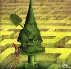 WAYNE ANDERSON Wayne Anderson, David The Gnome, Baumgarten, Gnome House, Forest Creatures, Funny Illustration, Forest Friends, Goblin, Elves