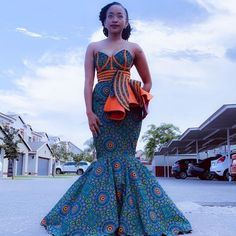 African Prom Dresses, African Dresses For Women, African Attire, African Fashion Dresses, Seshweshwe Dresses, African Clothes, Wedding Dresses, African Fashion Designers, African Inspired Fashion