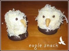 eagle snack...fun activity to do with a patriotic unit