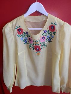 Hungarian  Matyo blouse embroidery. by macaristanbul on Etsy, $60.00
