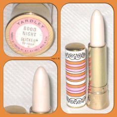 1960s Yardley White Lipstick...my cousins were older then me, they wore white lipstick