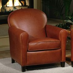 Buenos Aires Leather Chair Color: America - Vintage, Finish: Cherry  #Omnia_Furniture #Home