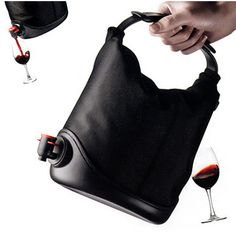 Wine Sack, $70 | 29 Clever Gifts For People Who Love To Drink  my kind of purse!!  LOL