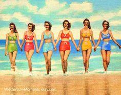 Instant Dowload: Happy Girls Prettiest Girls by MidCenturyMoments