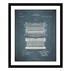 Replay Photos 1896 Typewriter Patent Framed Photographic Print