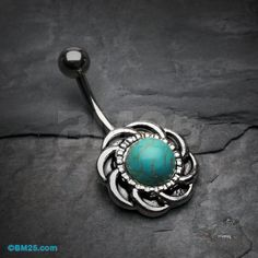 Tribal Turquoise Sun Belly Button Ring by BM25Jewelry on Etsy https://www.etsy.com/listing/202804139/tribal-turquoise-sun-belly-button-ring