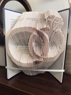 Wedding rings book folding pattern