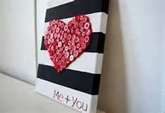 black and white stripe with red heart button