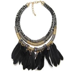 Native American Feathered Necklace
