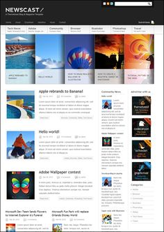 Newscast is a WordPress Theme, best suited for Magazines and Blogs. Love the slider idea.