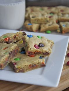 Chewy M&M Cookie Bars Recipe (The Best!) | Divas Can Cook
