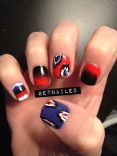 Love the ikat and colors on her thumb and middle finger (: