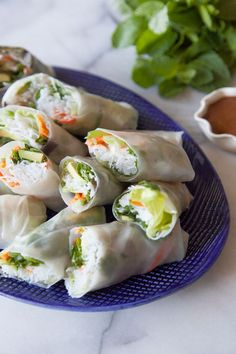 Avocado Shrimp Spring Rolls - What's Gaby Cooking