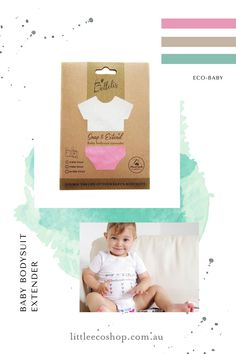 Notice how when bub goes up a size in clothing, their outfits are ridiculously baggy? These genius bodysuit extenders reduce clothing waste & your baby clothing spend, by giving you months of extra wear. Simply snap on to any of bub's snap closure suits for 11cm of extra length. #ecobaby #ecoparenting #ecokids #sustainableparenting #zerowasteparenting #lowwastelifestyle #ecofriendlyswaps #reduceclothingwaste #sustainabilitytips #ecofriendlyproducts