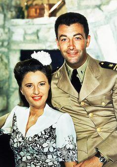 Barbara Stanwyck and Robert Taylor, 1945…