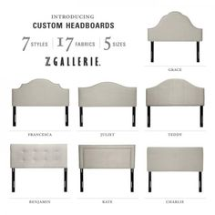 Headboard shapes