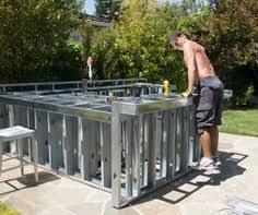 Image result for outdoor kitchen steel framing