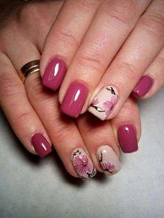 19 Fantastiche Immagini Su Fiori Unghie Pretty Nails Nail Polish