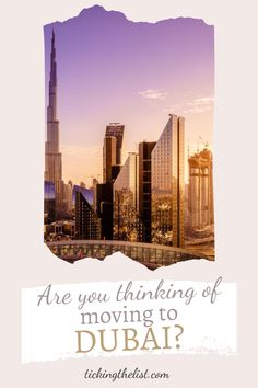 Moving can be stressful. Moving country, even more so! Here is EVERYTHING you need to know before making the move to Dubai.