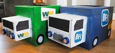 make a dump truck out of boxes - Google Search