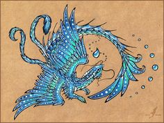 Water dragon  -  tattoo design by AlviaAlcedo.deviantart.com on @deviantART