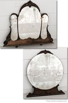 Yard Sale Finds - Antique Mirrors #yardsale #yardsales #yardsalefinds Garage Sale Tips, Yard Sale Finds, Antique Mirrors, Oversized Mirror, Antiques, Furniture, Home Decor, Old Mirrors, Antiquities