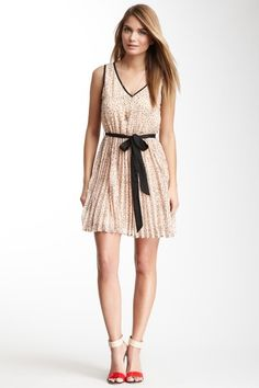 Tie Sash Sleeveless Dress by Double Zero on @HauteLook