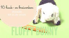 Studio Konijn: Fluffy bunny haakpatroon in breiboek van Zeeman