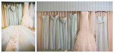 mint brides dress and bridesmaids dresses for destination wedding in the Cayman Islands