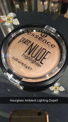 Hourglass Ambient Lighting Dupe!!! - Essence pure Nude highlighter  ✨ Follow CindyLBB✨ Instagram: @cindyslbb Pinterest: @cindyslbb Snapchat: @cindyslbb