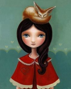 Marisol Spoon: Rose and her little fennic fox.