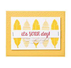 We love this bright and happy card using the Cheer All Year stamp set.