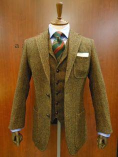 Maximum Tweed - green tweed jacket and waistcoat
