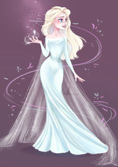 A wonderful Print of Elsa for a wonderful room. Elsa Frozen, Frozen Anime, Frozen Disney, Frozen Heart, Frozen Movie, Disney Princess Dresses, Disney Dresses, Faber Castell Polychromos, Elsa Hair