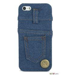 Cover custodia iPhone5 antiurto tessuto jeans originale Vaveliero denim. Il jeans è l'abito nato per  proteggere ed è diventato sinonimo di stile. Vaveliero porta sul vostro iPhone le stesse qualità! Le denim jeans cover Vaveliero sono costituite da un supporto di plastica antiurto leggera e resistente ricoperto di vero tessuto jeans in due gradazioni di colore.