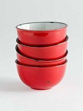 Tinware Bowls, Set Of 4