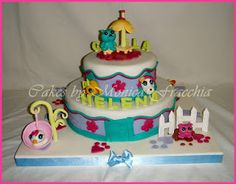 TORTA DECORADA DE LITTLE PET SHOP