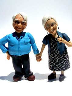 Customized Sculptures with your looks for any by CrackpotPeople.  I can see something like this on a wedding cake :)
