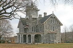 This stunning--and Gothic Victorian was designed by architect Addison Hutton. It's located about 25 miles from Philadelphia in Malvern, PA. Victorian Architecture, Beautiful Architecture, Beautiful Buildings, Beautiful Homes, Classical Architecture, Victorian Gothic, Victorian Homes, Victorian Castle, Gothic Glam