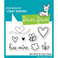 """LF439  Lawn Fawn Clear Photopolymer Stamps """"Bee Mine"""""""