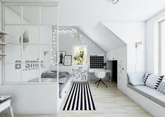 Poddasze w skandynawskim stylu | NEFA Architekci - Studio projektowe