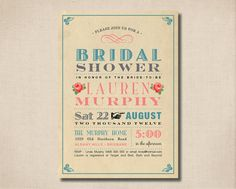 Printable Bridal Shower Invitation  Sweet by rosiedaydesign, $15.00