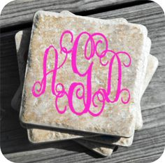 Monogrammed Coaster  Set of 4 by UPersonalized on Etsy, $20.00