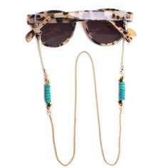 Sunnycords® are modern eyewear chains for your sunglasses. The Sunnycord® is a fashionable glasses cord for holding any kind of eyewear. Initially designed to never lose you glasses or reading glasses again. Shop your sunglass chain now online! Ray Ban Round Sunglasses, Diy Fashion Accessories, Eyeglass Holder, Turquoise Stone, Eyeglasses, Band, Eyewear, Glamour, Glasses Shop