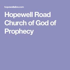 Hopewell Road Church of God of Prophecy