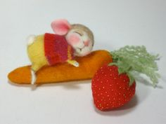 PDF CLASS Needle Felted Animal Dressed Mouse & Bunny Class Needle Felting / Create a Bunny and Mouse (Kit Available and sold separately). $45.00, via Etsy.